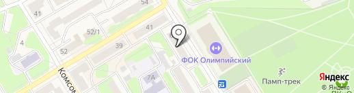 Мод на карте Краснокамска