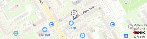 Кира на карте Краснокамска