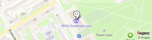 Олимпийский на карте Краснокамска