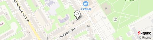 Бизон на карте Краснокамска