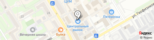 Евросеть на карте Краснокамска