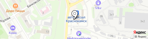 Мастерская по ремонту часов на карте Краснокамска