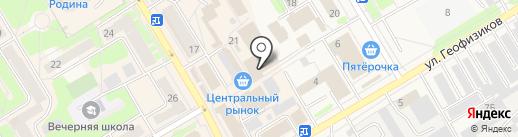 Магазин табачной продукции на карте Краснокамска