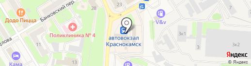 Магазин игрушек на карте Краснокамска