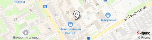 Магазин фруктов и овощей на карте Краснокамска