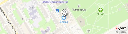 Банкомат, Юникредит банк на карте Краснокамска