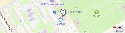 Глория Джинс на карте Краснокамска