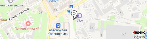 Фаворит на карте Краснокамска