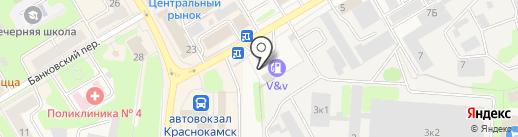 АЗС VV на карте Краснокамска
