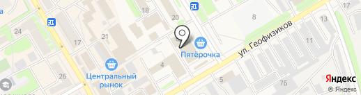 Лекар-Инструмент на карте Краснокамска