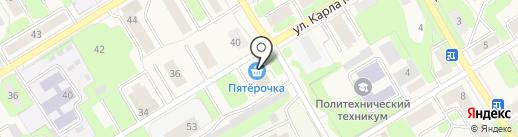 Пятёрочка на карте Краснокамска
