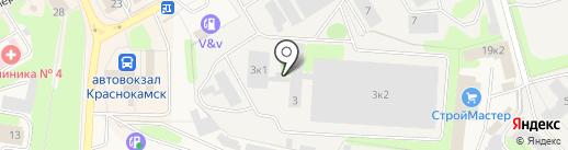 Пуля на карте Краснокамска