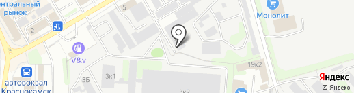 Компания по аренде помещений на карте Краснокамска
