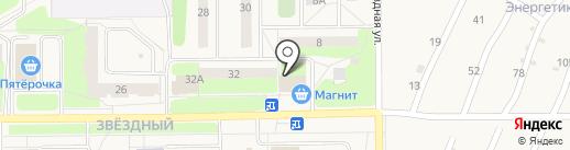 Сеть продовольственных магазинов на карте Краснокамска