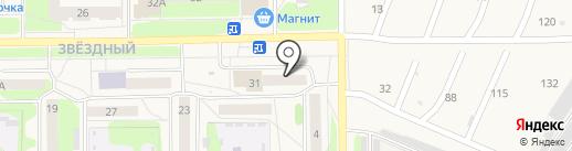 Магазин постельного белья на карте Краснокамска