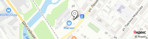 Красное & Белое на карте Краснокамска