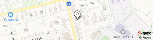Красная корзинка на карте Уфы