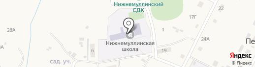 Нижнемуллинская средняя школа на карте Петровки