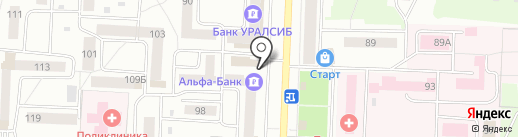 Ватрушкин на карте Стерлитамака