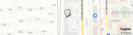 Шиномонтажная мастерская на Вокзальной на карте Салавата