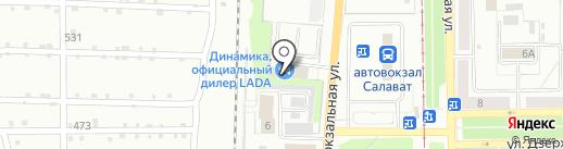 Аура Автодом на карте Салавата