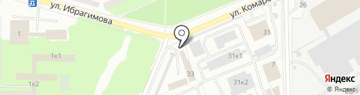 Батыр на карте Стерлитамака