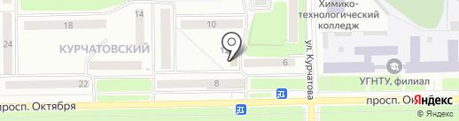 Киоск по продаже фруктов и овощей на карте Стерлитамака