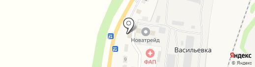 Продовольственный магазин на карте Васильевки