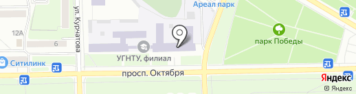 Уфимский государственный нефтяной технический университет на карте Стерлитамака