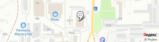 Антэл на карте Салавата