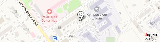 Радамама на карте Култаево
