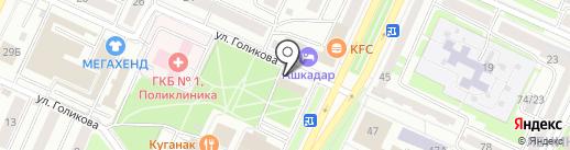 Салон-парикмахерская на карте Стерлитамака