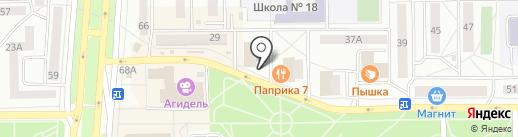 Елочка на карте Салавата