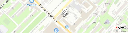 Цех стирки ковров на карте Перми