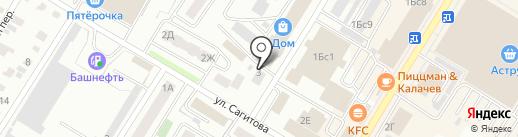 БашИнвестСтрой на карте Стерлитамака