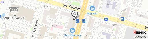 Клевер на карте Уфы