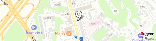 Гранд Инвест на карте Уфы