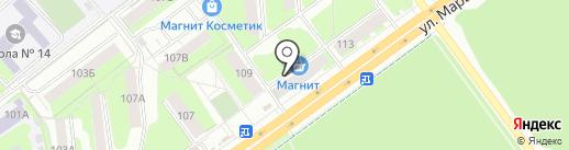 Магазин верхней одежды на карте Перми