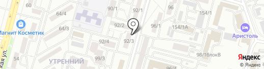 Фанат на карте Уфы