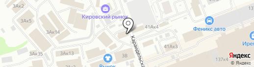 Индюшкин на карте Уфы