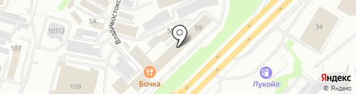 Инзер на карте Уфы