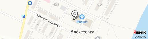 Продовольственный магазин на карте Алексеевки