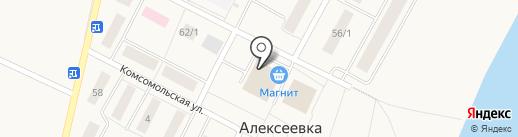Банкомат, Сбербанк, ПАО на карте Алексеевки