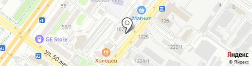 Акварель на карте Уфы