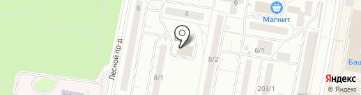 Вектор на карте Уфы