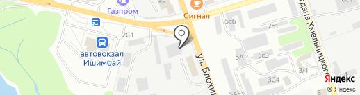 Аэрон на карте Ишимбая