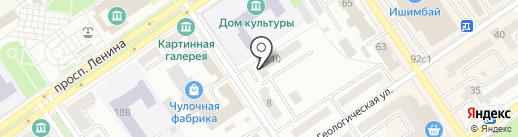 На Гагарина на карте Ишимбая