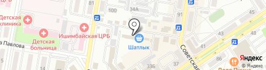Табачок на карте Ишимбая