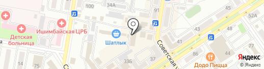 Ольга на карте Ишимбая