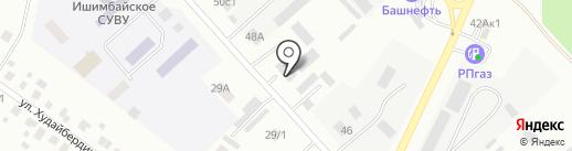 Ветеринарная станция Ишимбайского района и г. Салавата на карте Ишимбая